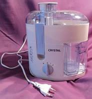 Электрическая соковыжималка Crystal CR-302, мощность 350 Вт, 2 скорости, низкий уровень шума мотора
