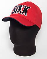 """Бейсболка """"BIKK"""" красного цвета с темно-синим подкозырьком лакоста пятиклинка"""