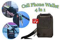 Портмоне Кошелек Cell Phone Wallet 4 в 1, фото 1