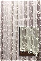 Тюль в зал с подшивом