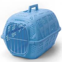 Переноска для кошек и собак Imac Carry Sport АЙМАК КЭРРИ СПОРТ, пластик, 48,5х32х34,5см / голубой