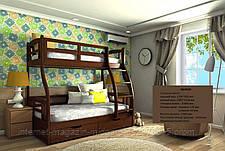 """Двухярусная кровать семейного типа """"Мария""""с ящиками бортиками, фото 3"""