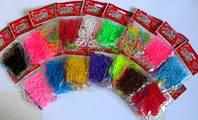 Резиночки для плетения браслетов Rainbow loom 300 шт с крючком