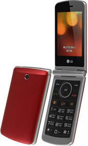 """Кнопочный мобильный телефон (""""раскладушка"""") LG G360 RD red"""