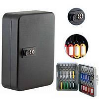 Шкафчик для ключей Buromax 0410 черный 24 матовый з брелками