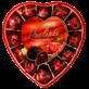 Праліне темний шоколад з вишнею з лікером 4% об. серце 140г