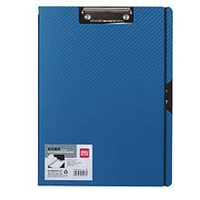 Папка-планшет Deli 5443 синий, черный А4 покр PP мет/клип, карман