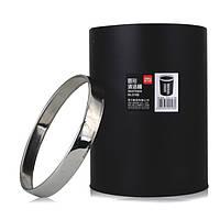 Корзины и ведра канцелярские Deli 9198Е черный 10л 210х285 металич с кольцом