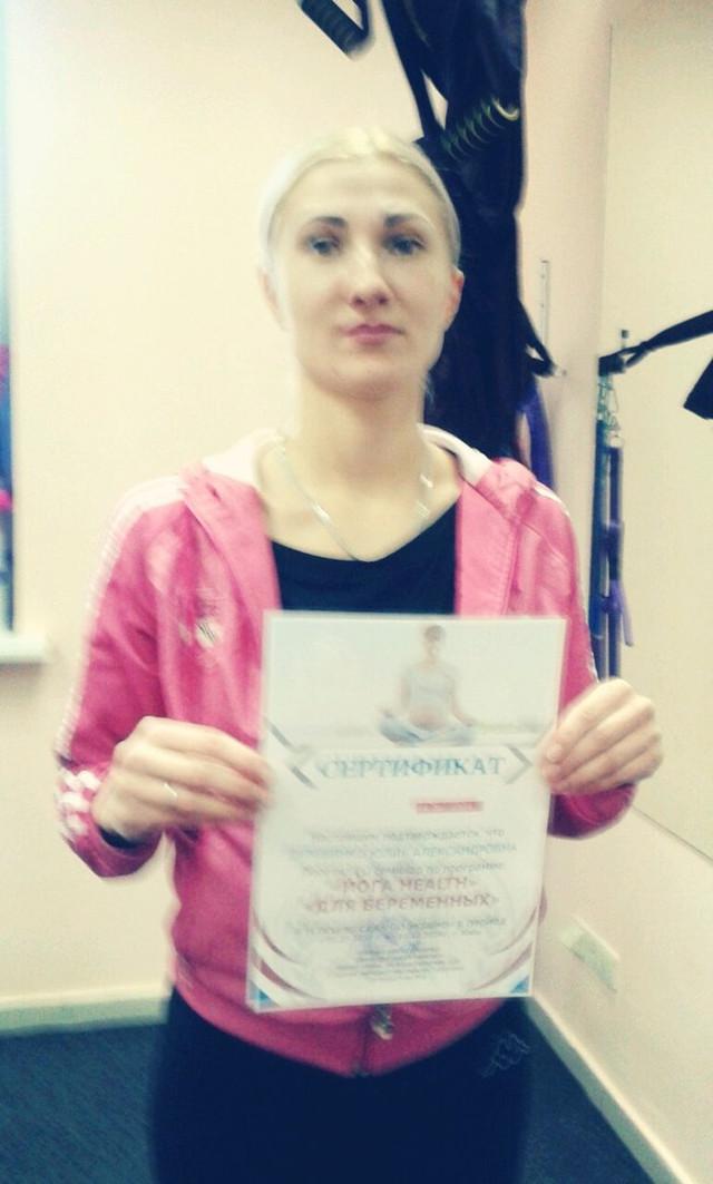 Выпускница курса Сергеева Анастасия по пилатесу в школе Олимпия - Хижняк Наталья и Пилипец Анна