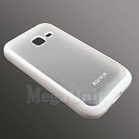 Keva Чехол-накладка силикон+TPU Samsung S6802 Galaxy Ace duos Белый