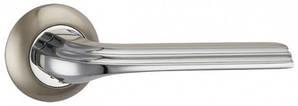 Дверная ручка BOLERO  матовый никель/хром