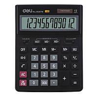 Калькулятор Deli 39267M черный 12 разряд,206х255х35  пластик корп, пласт кн (аналог 888)
