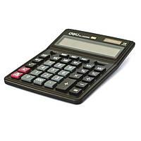 Калькулятор Deli 39268M черный 14 разряд,206х255х35  пластик корп, пласт кн (аналог 888)