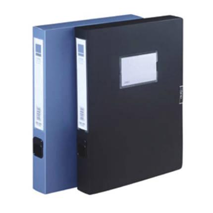 Архиватор Deli 5642 синий 35 мм, А4 не прозрачный, пластик, на липучке, фото 2