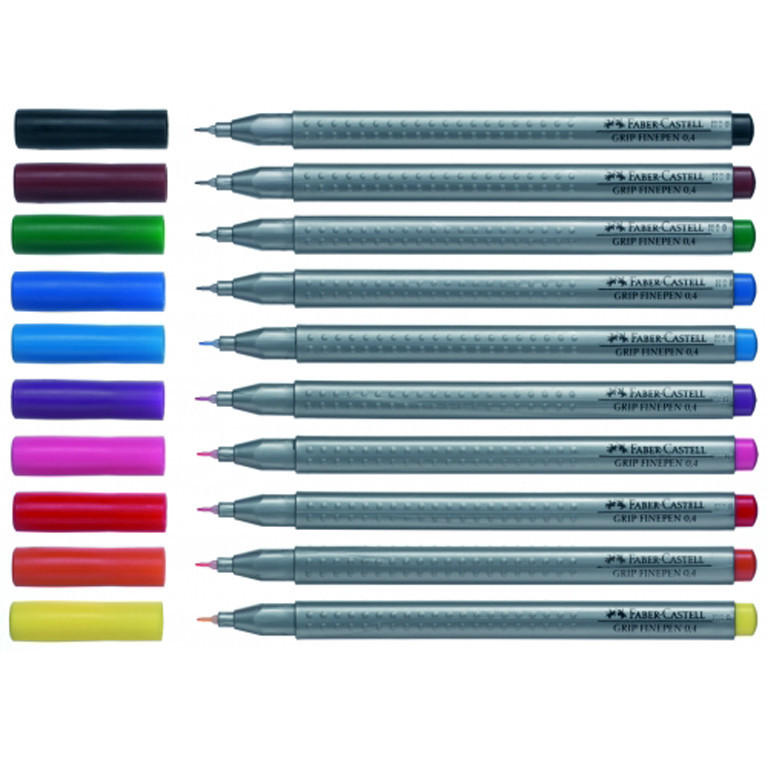 Линер Faber_Castell 151634 фиолетовый 0,4 мм Grip Fine Pen