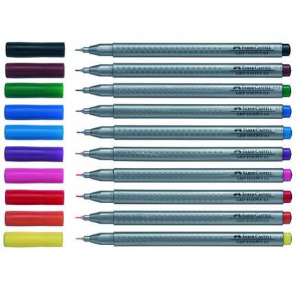 Линер Faber_Castell 151634 фиолетовый 0,4 мм Grip Fine Pen, фото 2
