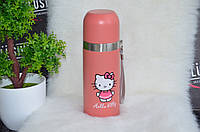 Мультяшный розовый термос Hello Kitty., фото 1