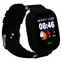Умные детские часы Q 100 с GPS черные