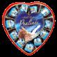 Праліне молочний шоколад молочний крем форма серце 165г