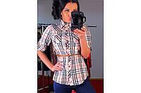 Модная женская рубашка расцветки барбери