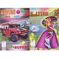 Картон цветной Скат УП-198 А4 10л двосторонний Super