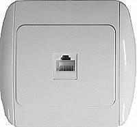 Розетка e.install.stand.819С1 s035032 компьютерная одинарная с рамкой