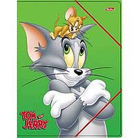 """Папка для тетрадей Hatber Пк5р_07341 А5 картон. на резинке """"Том и Джерри"""""""