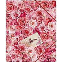 "Папка для тетрадей Hatber Пк5р_05092 А5 картон. на резинке ""Океан роз"""