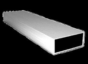 Труба  профильная алюминиевая 40 х 20 х 2 мм прямоугольная 6060 Т6 аналог АД31Т, фото 2