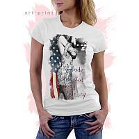 Женская белая футболка с принтом SEXY GIRL