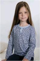 Кофточка блузка детская кофта для девочки серая Wiktoria