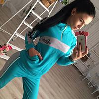 Костюм женский Спортивный Спорт бирюзовый