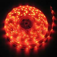 Светодиодная лента LED SMD 3528, 60шт/м, Красная, водонепроницаемая, 1 метр