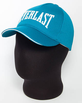 """Бейсболка спортивная """" Everlast"""" бирюзового цвета с белым кантом (лакоста пятиклинка)."""