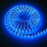 Світлодіодна стрічка LED SMD 3528, 60шт/м, Синій, водонепроникна, 1 метр