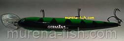 Воблер German Bullet 120 mm (action 0-2.5m ) 18.0g (Цвет 161), фото 3