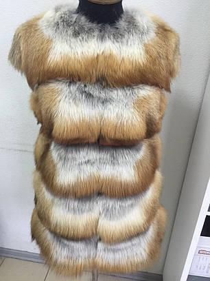 Жилет с натурального меха лисы