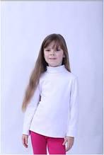 Гольф детский для девочки белый, блузка водолазка Wiktoria