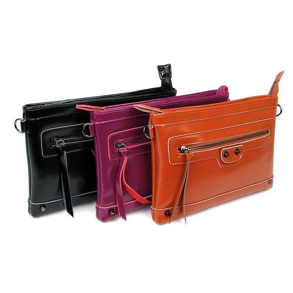 Сумка-клатч кожа PU женская фиолетовая 9006
