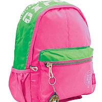 "Рюкзак 1 Вересня16 552830 розовый 27,5х9,5х33, Х257 подростковый,  ""Oxford"", спинка уплотненная, водоотталкивающий материал"