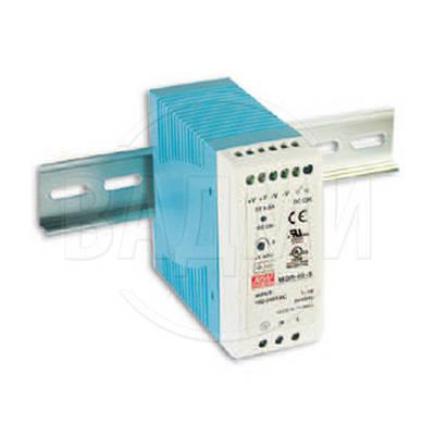 Блок питания MDR-40-5, AC/DC, 5 В, 6 А, 30 Вт, на DIN-рейку, Mean Well