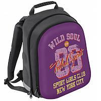"""Рюкзак CFS CF85459 фиолетово-серы """"Wild Soul"""",38х29х20 см ,полиэстер, ортоп. спинка, фасад EVA с жест. вставкой, 2 отд."""