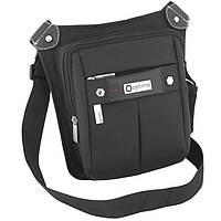 Сумка Optima16 O97286 черный сумка через плечо, 26х21х9 см полиэстер, 3 отд. на молнии