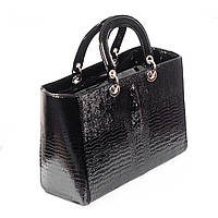Сумка женская - Dior крокодил черная