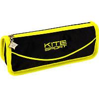 """Пенал Kite16 K16-644-2 черно-желтый """"644 Sport"""" 20х7х4,5см, полиэстер, 1 отд. на молнии"""
