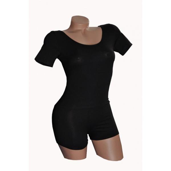 Купальник гимнастический (трико) сшортами и коротким рукавом для танцев  трикотаж 7d8be63f23f