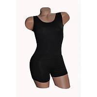 Купальник гимнастический (трико) с шортами без рукавов для танцев трикотаж, бифлекс.
