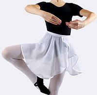 Юбка-хитон  тренировочная 30 см из шифона черная, белая.