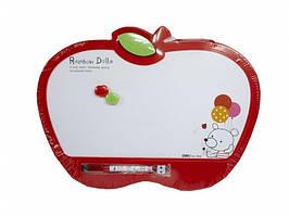 """Доска детская магнитная для рисования Deli 7808Е """"Яблоко"""" с маркером, 35*26 см"""