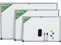 Доски сухостираемые пластиковые  магнитно-маркерны Deli 7845Е 90х120 Комплект с марк, магн и губкой